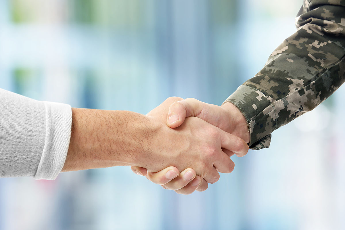 hand shake at veterans affairs approved detox center